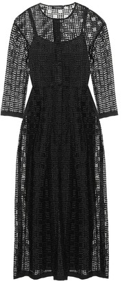 S Max Mara Paride cupro midi dress
