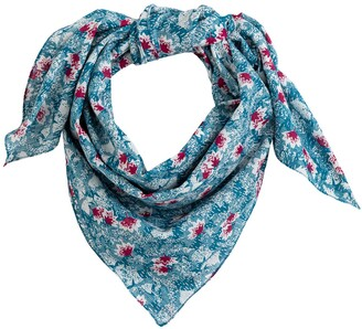 La Redoute Collections Recycled Cotton Scarf in Floral Print