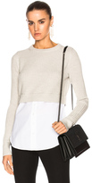Veronica Beard Garrett Mix Media Tunic in Gray.