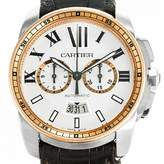 Cartier Silver gold and steel Watches