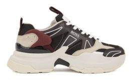 BOSS Unisex running-style trainers with hybrid uppers and oversized sole