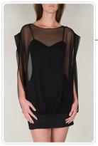 Loeffler Randall Overlay Dress in Black