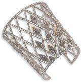 Alexis Bittar Crystal-Encrusted Spiked Lattice Cuff Bracelet