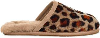 UGG Fluffette Leopard-Print Sheepskin Slippers