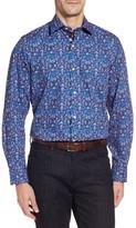 Tailorbyrd Men's Bryceland Regular Fit Print Sport Shirt