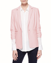 Elizabeth and James James Relaxed Leather Blazer