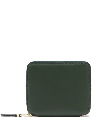 Comme des Garcons Zip-around Leather Wallet - Green