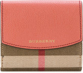 Burberry house check flap wallet
