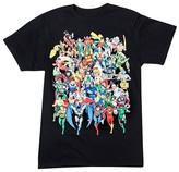 DC Comics Men's DC Comics Characters T-Shirt Black