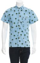 Shipley & Halmos Palm Tree Print Button-Up Shirt