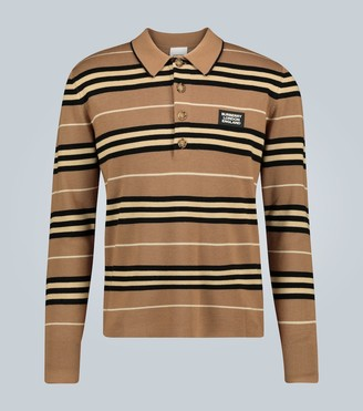 Burberry Rigby wool long-sleeved polo shirt