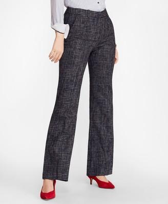 Brooks Brothers Plaid Tweed Wide-Leg Pants