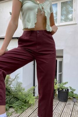 Santa Cruz UO Exclusive Chino Trousers - Red UK 6 at Urban Outfitters