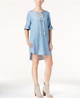 Velvet Heart Senna Denim Lace-Up Dress