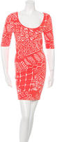 Torn By Ronny Kobo Patterned Bodycon Dress