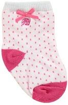 Ralph Lauren Infant Girls' Pindot Crew Socks - Sizes 0-6 Months