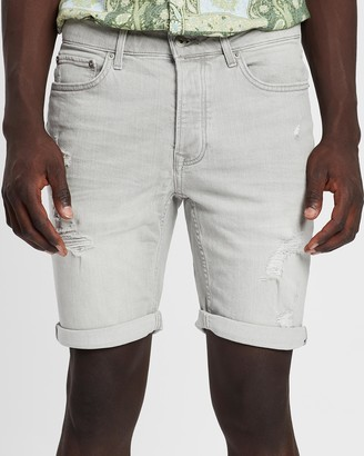 Topman Rip Skinny Shorts