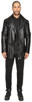 D.GNAK - Zip Sleeve Leather Jacket Men's Coat