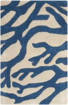 The Well Appointed House Surya Blue Coral on Ivory Rug- Available in a Variety of Sizes