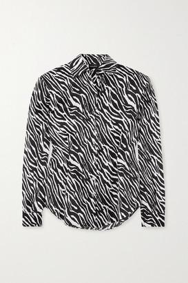 Magda Butrym Zebra-print Silk-satin Shirt - Zebra print