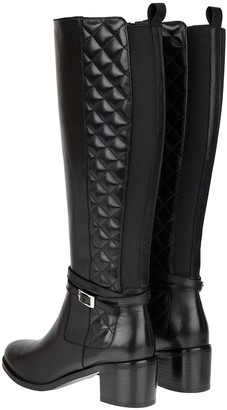 Monsoon Long Leather Riding Boots - Black