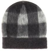 Balenciaga Plaid Wool-blend Hat