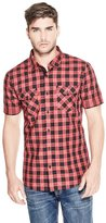 GUESS Short-Sleeve Plaid Shirt