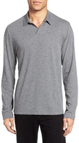 James Perse Men's Melange Jersey Long Sleeve Polo