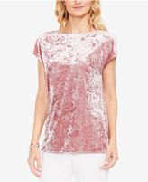 Vince Camuto Extended-Shoulder Crushed-Velvet T-Shirt