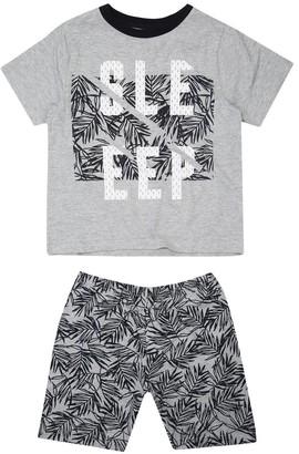 M&Co Sleep leaf print pyjama set (4-12yrs)