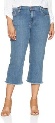 James Jeans Women's Plus Size Cropped Straight Leg Jean in Vermouth 18W