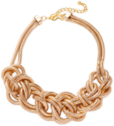 Kenneth Jay Lane Women's Gold Knotted 2 Row Snake Chain Necklace