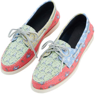 Vineyard Vines Womens Sperry x Heritage Patchwork Authentic Original Boat Shoe