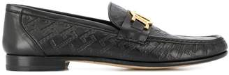 Versace embossed greek key loafers