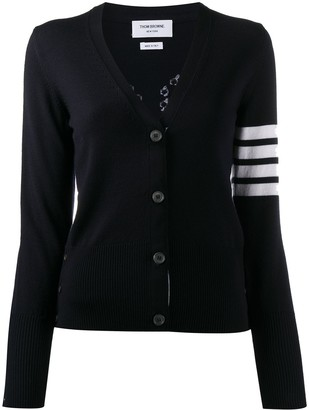 Thom Browne 4-Bar stripe intarsia cardigan