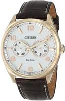 Citizen Men's AO9023-01A Dress Analog Display Japanese Quartz Brown Watch