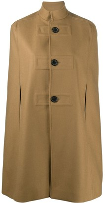 Saint Laurent High Collar Cape Coat