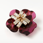 John Lewis Abstract Flower Glass Brooch, Magenta/Gold