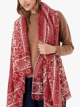 Brora Floral Print Wool Stole Scarf