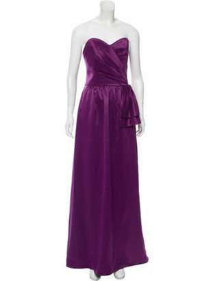 Lela Rose Strapless Evening Gown w/ Tags Purple