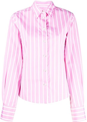 Odeeh Striped Curved Hem Shirt