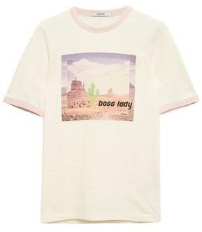 Ganni Ranger Printed Slub Jersey T-shirt