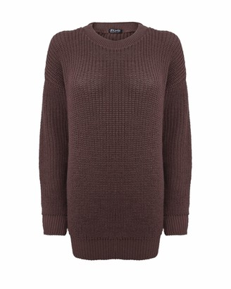Top Vendor Ladies Women Long Sleeve Knitted Baggy Jumper Oversized Sweater Chunky Top S-3XL[Mist SM]