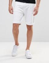 Pull&bear Denim Shorts In White