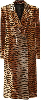 ATTICO Tiger-print velvet coat