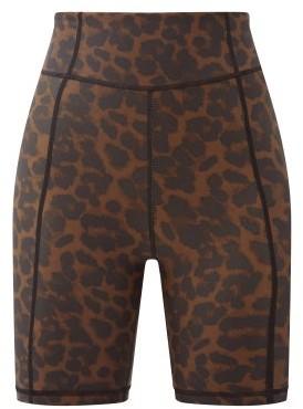 The Upside Leopard-print Stretch-jersey Cycling Shorts - Leopard