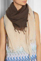 Chan Luu Ombré cashmere and silk-blend scarf