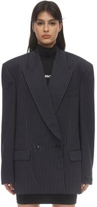 Vetements Oversize Pinstripe Stretch Jersey Blazer