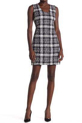 Theory Tweed Plaid Mini Dress