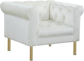 Chic Home Giovanni Beige Velvet Club Chair
